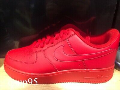 Nike AIR FORCE 1 '07 Low Triple Red CW6999 600 Size 7 13 New   eBay