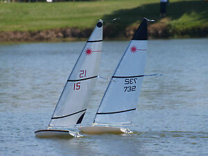 A Rig A Sail Plus A Mast For Rc Laser Sailboat Ebay