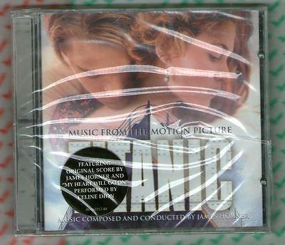 """James Horner/Celine Dion """"TITANIC"""" SEALED CD soundtrack+My Heart Will Go On"""