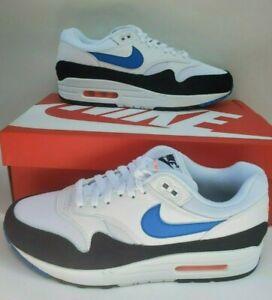 Details about Nike Air Max 1 White Blue Orange Black Mens Trainers Shoes SZ 9 AH8145 112 NEW