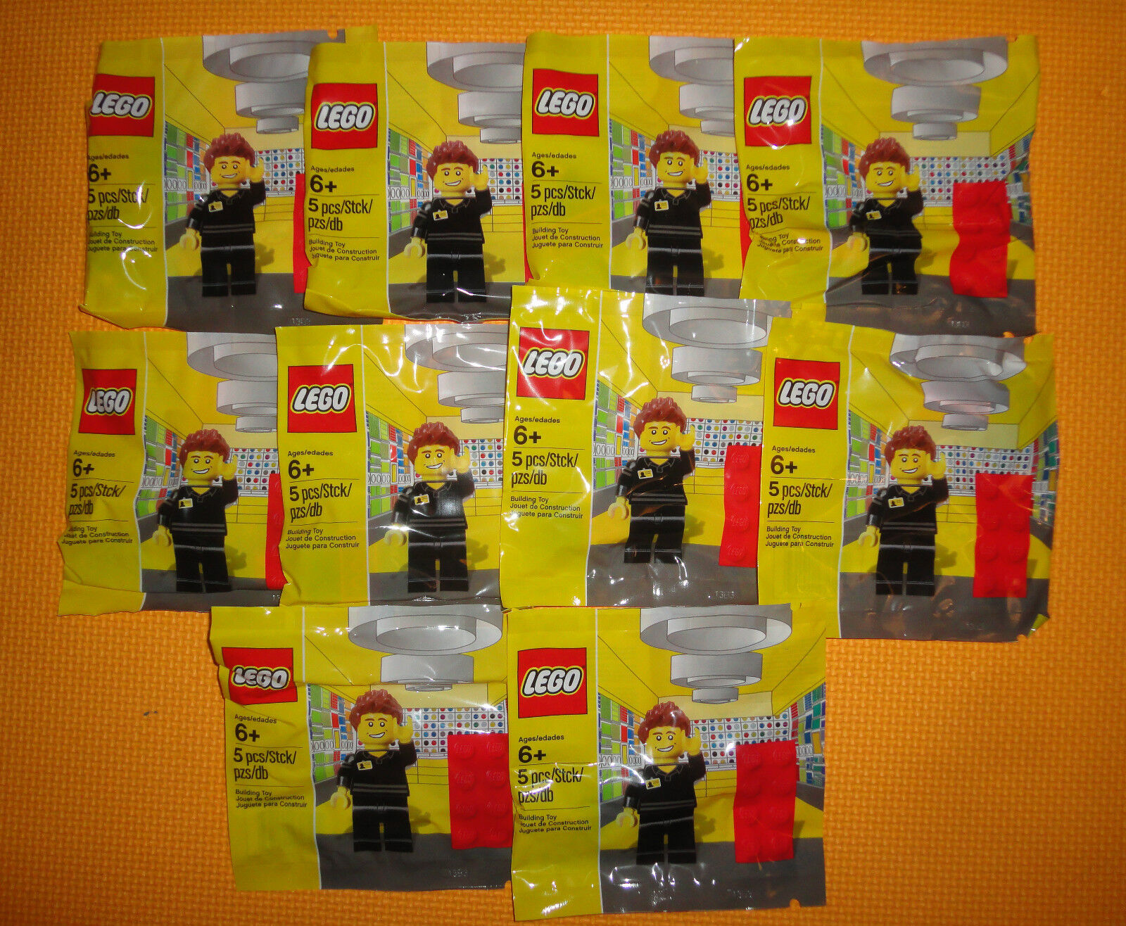 Lego Exclusive Store Employee Minifigure 5001622 x10 NEW