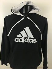 Adidas Originals Trefoil Classic Logo Hoodie Hooded Sweatshirt Black Mens Sz L