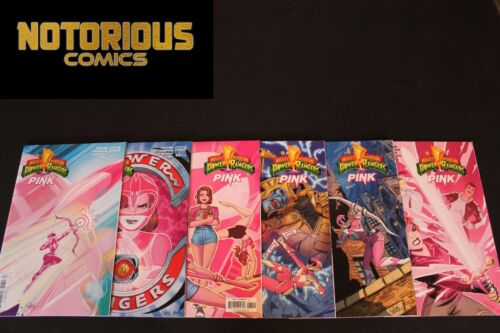 Mighty Morphin Power Rangers Pink 1-6 Complete Comic Lot Run Set Collection BOOM