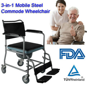 Mobile-Steel-Commode-Chair-Bedside-Commode-Wheelchair-Toilet-Chair-Rolling-Chair