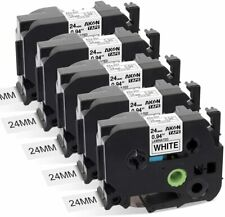 5pk Tze 251 24mm Black On White Compatible Brother P Touch Label Maker Pt D600