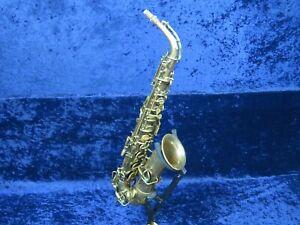 *** Le Buescher Low Pitch Saxophone Alto Ser#16206 Joue Mais A Besoin D'ajustement ***-afficher Le Titre D'origine