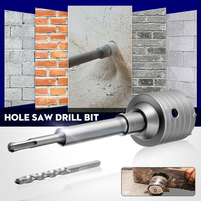 Practical SDS Plus Shank Concrete Cement Stone Wall Hole Saw Drill Bit 200mm Rod