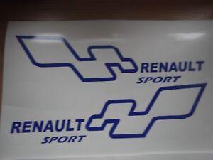 RENAULT sport   OUTLINE car vinyl sticker decal x2