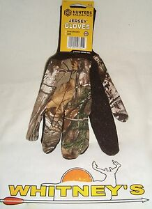 Hunter Specialties Jersey Camo Unlined Extra Long Cuff Large Gloves #07321