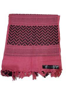 144f8099389d 100% Woven Cotton Military Shemagh Headscarf Keffiyeh Veil Wrap Pink ...