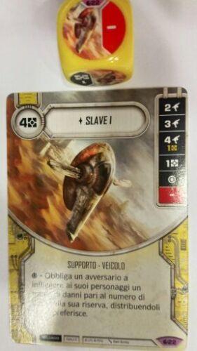 Carta+Dado Spirito della Ribellione SoR Rare e Leggendarie Star Wars Destiny