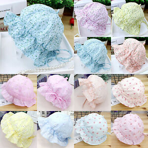 Baby Girls Romany Style Sun Hat Traditional Broderie Anglaise Baby Bonnet ☆