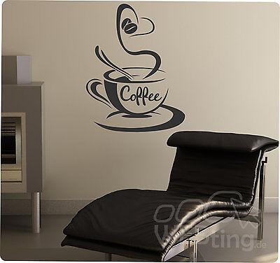 Coffee Kaffee Wandaufkleber Aufkleber Küche Sticker Wandtattoo Tattoo No.28
