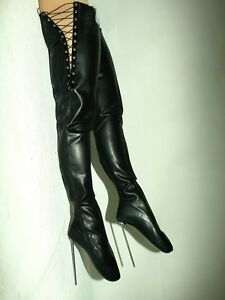 high heels latex rubber boots size 3747 heel 21cm