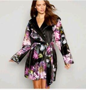 683eae552bbfa B by Ted Baker - Black print jersey  Sunlit Floral  kimono dressing ...