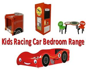 Pleasant Details About New Kids Red Racing Car Toddler Cot Bed Wardrobe Table And Chairs Bedside 140 70 Alphanode Cool Chair Designs And Ideas Alphanodeonline