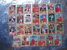 CARDINALS 1987 TOPPS TIFFANY Baseball 27 Cards PENDLETON Worrell VINCE COLEMAN