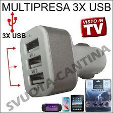 MULTI PRESA ACCENDISIGARI AUTO TUNING 3X PRESE USB PER LANCIA Delta