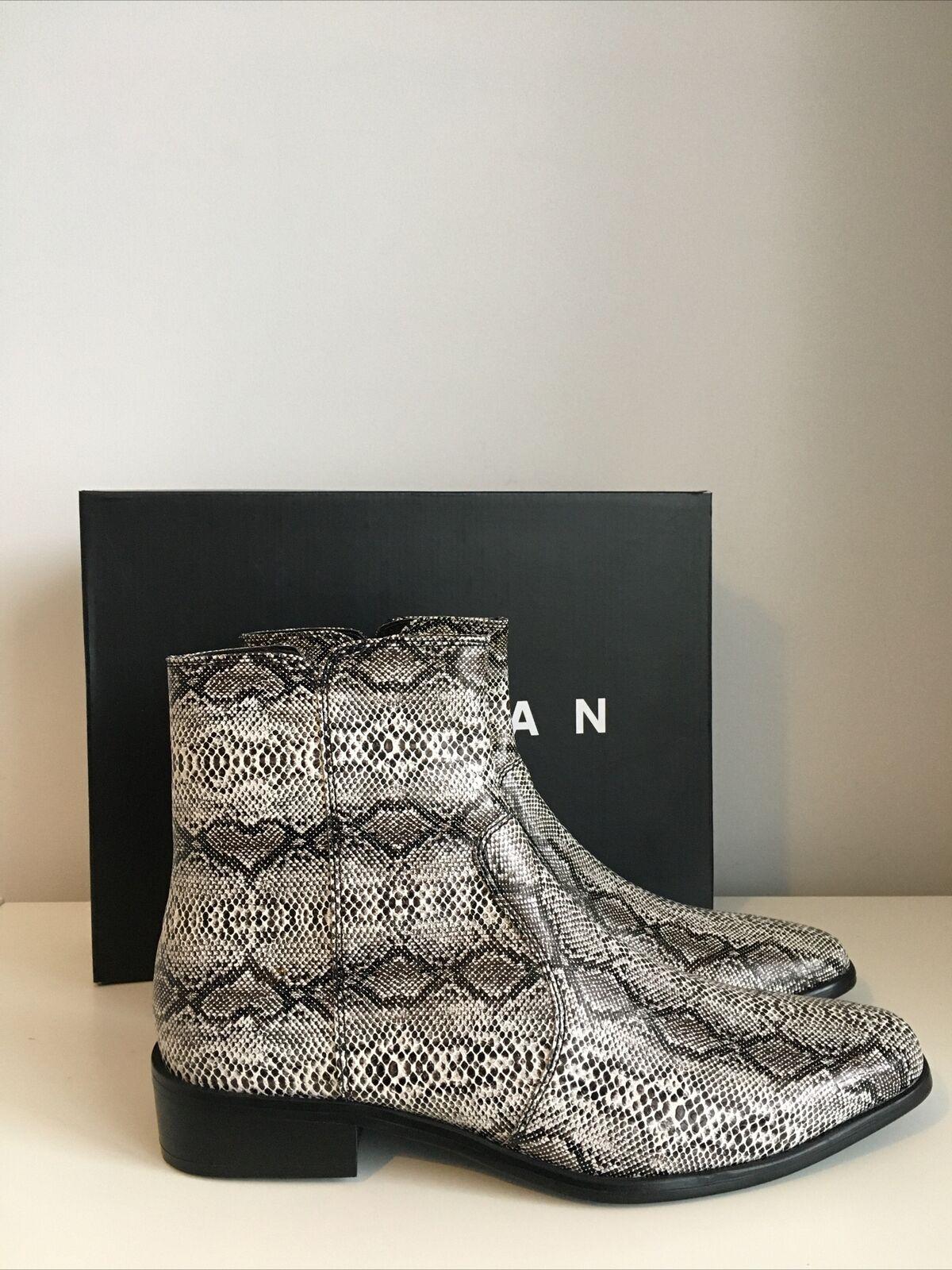 TOPMAN Brave Western Boots Cowboy Ankle Boot UK 7 / 41 BNIB Snake Print rrp