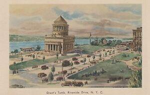 LAM-T-New-York-City-NY-Bird-039-s-Eye-View-of-Grant-039-s-Tomb