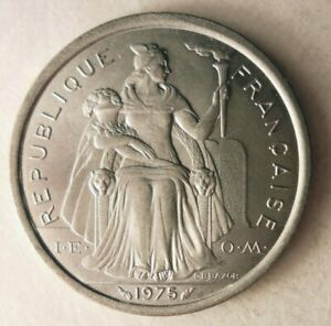 1975-Frances-Polynesia-2-Francos-Coleccion-Moneda-Ganga-Bin-303