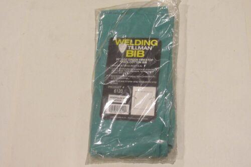 "NEW Tillman BIB 6120 20/"" 9 oz Green Firestop 100/% Cotton Bib  Free Shipping!!"