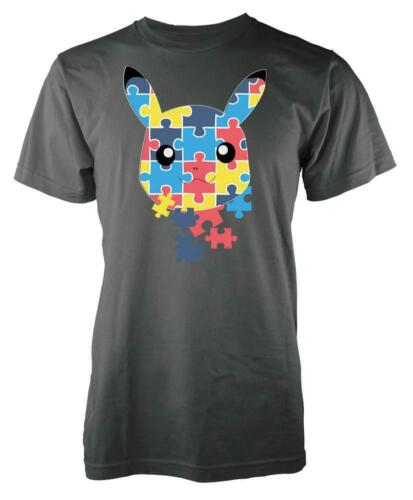 L/'autisme PIKACHU Rainbow Jigsaw PIECES KIDS T Shirt