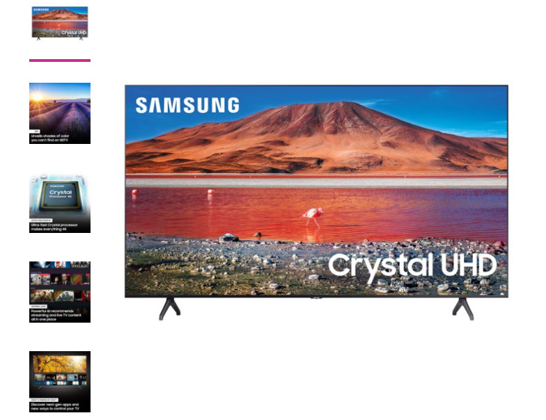 SAMSUNG 82 Class 4K Crystal UHD (2160P) LED Smart TV with HDR UN82TU6950 2020. Available Now for 800.00