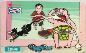 Malaysia-Used-Phone-Cards-Utusan-Cartoons-A