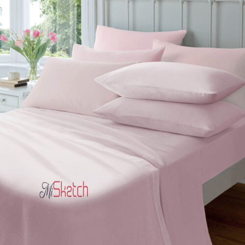"FITTED 9/""//23CM PERCALE FLAT SHEETS ALL SIZES,YAW EXTRA DEEP FITTED 16/""//40CM"