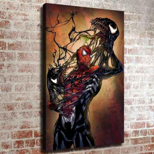 Spiderman shredded venom coat HD Canvas prints Painting Home decor Room Wall art