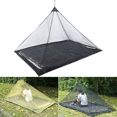 Outdoor Mosquito Net Tent Pyramid Shape Camping Screen Shield Shelter LC | eBay