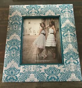 LENOX-American-By-Design-Turquoise-Newspaper-Frame-8x10-NEW-IN-BOX