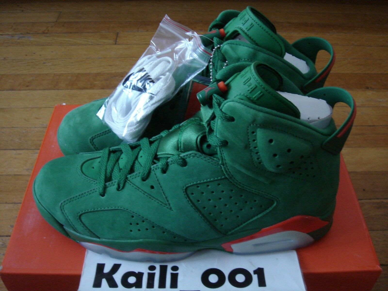 18e36281535 Air Jordan 6 Retro NRG G8RD Gatorade AJ5986-335 PINE GREEN 2017 A Nike  nobpaw1650-Athletic Shoes