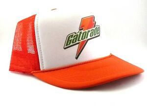 Image is loading Gatorade-hat-Trucker-Hat-mesh-hat-orange-adjustable- 401ce9ce71fe