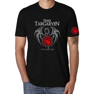 bc561d57 Game of thrones Short Sleeve Men's Funny T-shirts Black Cotton Tops ...