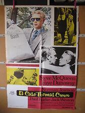A1045 EL CASO THOMAS CROWN con Steve McQueen y Faye Dunaway.