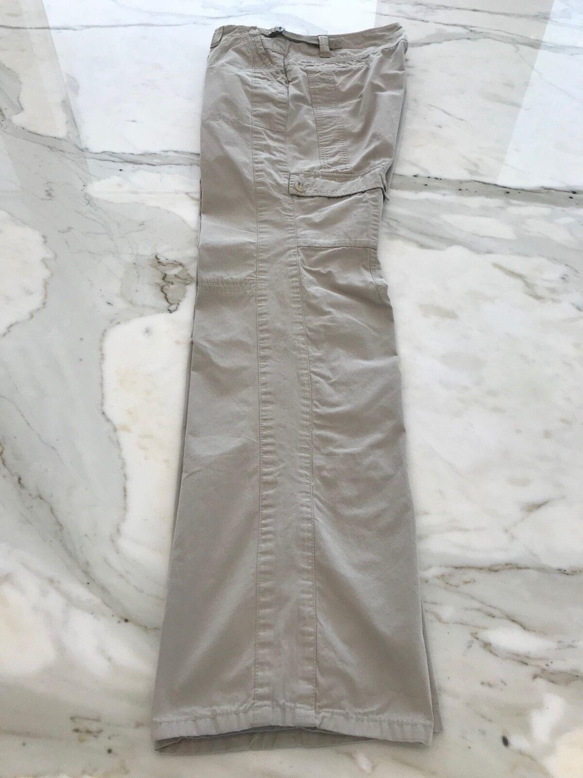 THEORY FANYAN SPIRIT BEIGE COTTON CARGO PANTS 606… - image 2