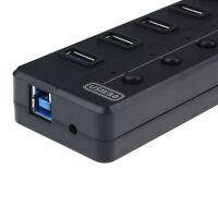 8 Port Super Geschwindigkeit 5Gbps USB 3.0 + USB 2.0 HUB Mit Strom Adapter