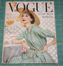 June Vogue 1955 Rare Vintage Vanity Fair Fashion Design Collection Magazine