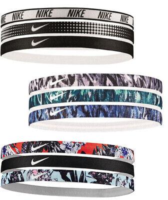 Elastici Capelli Tennis Nike Swoosh Sport Printed Hairbands 3pk Nadal Williams Rimozione Dell'Ostruzione