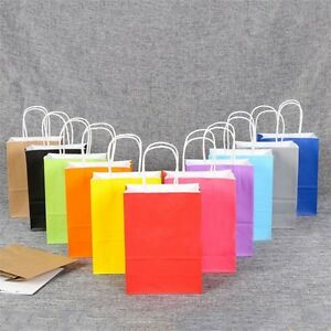 Image Is Loading Recyclable Luxury Kraft Paper Party Bags With Handles