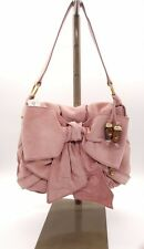 YVES SAINT LAURENT YSL Pink Suede Sac Bow Shoulder Bag NEW WITH TAG $995