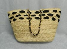 c10b2ee5be item 2 MAGID BLACK NEW Natural Cornhusk Straw Chain Handle Open Tote Bag  Purse  95 -MAGID BLACK NEW Natural Cornhusk Straw Chain Handle Open Tote Bag  Purse ...