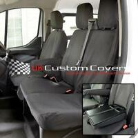 FORD TRANSIT CUSTOM 2013 + TAILORED & WATERPROOF FRONT SEAT COVERS - BLACK 102
