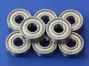 8-Pezzo-608-Zz-2Z-8x22x7-mm-Cuscinetto-a-Sfere-Sfere-Gola-Profonda-Miniatura