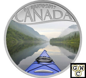2017-Kayaking-on-the-River-Celebrate-Canada-150-Color-Prf-Fine-silver-NT-17747