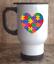Travel Car Coffee Tea Custom Mug 14oz Stainless Steel I Love Someone With Autism