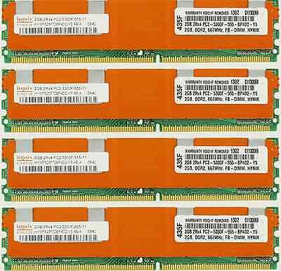 8GB 4X2GB KIT DELL FBDIMM PowerEdge 2900 M600 2950 III 2900 R900  RAM MEMORY