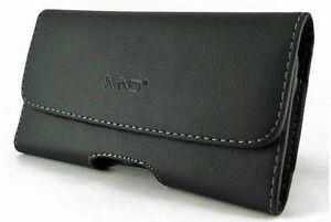Premium Leather Pouch Holster Belt Case w/ Clip for Motorola Moto G5 Plus,X4,G5s